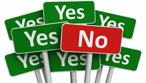 how to say yes or no without guilt